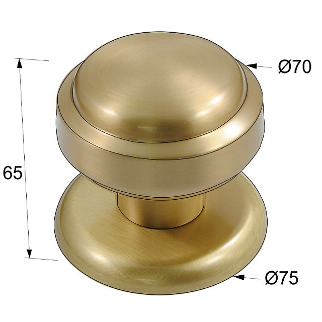 DOOR KNOB NETTUNO / MAT GOLD